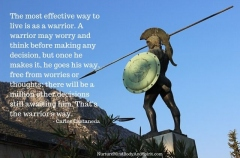 The most effective way to live is as a warrior. A warrior may worry and think before making any decision, but once he makes it, he goes his way, free from worries or thoughts; there will be a million other decisions still awaiting him. That's the warrior's way. – Carlos Castaneda