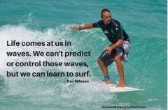 Life comes at us in waves. We can't predict or control those waves, but we can learn to surf. – Dan Millman