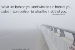 What lies behind you and what lies in front of you, pales in comparison to what lies inside of you. – Ralph Waldo Emerson